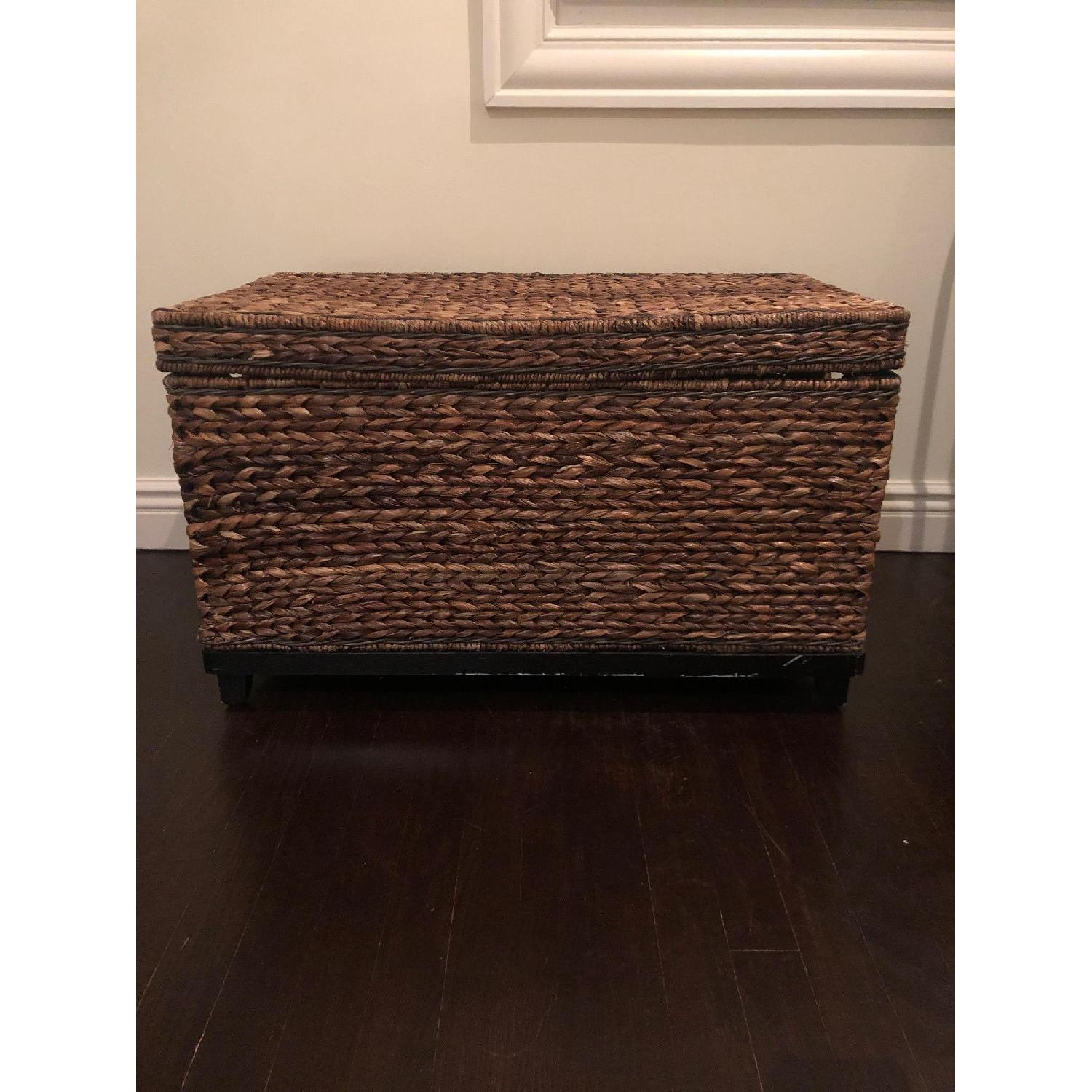 Target Rectangle Wicker Storage Ottoman Bench - image-2