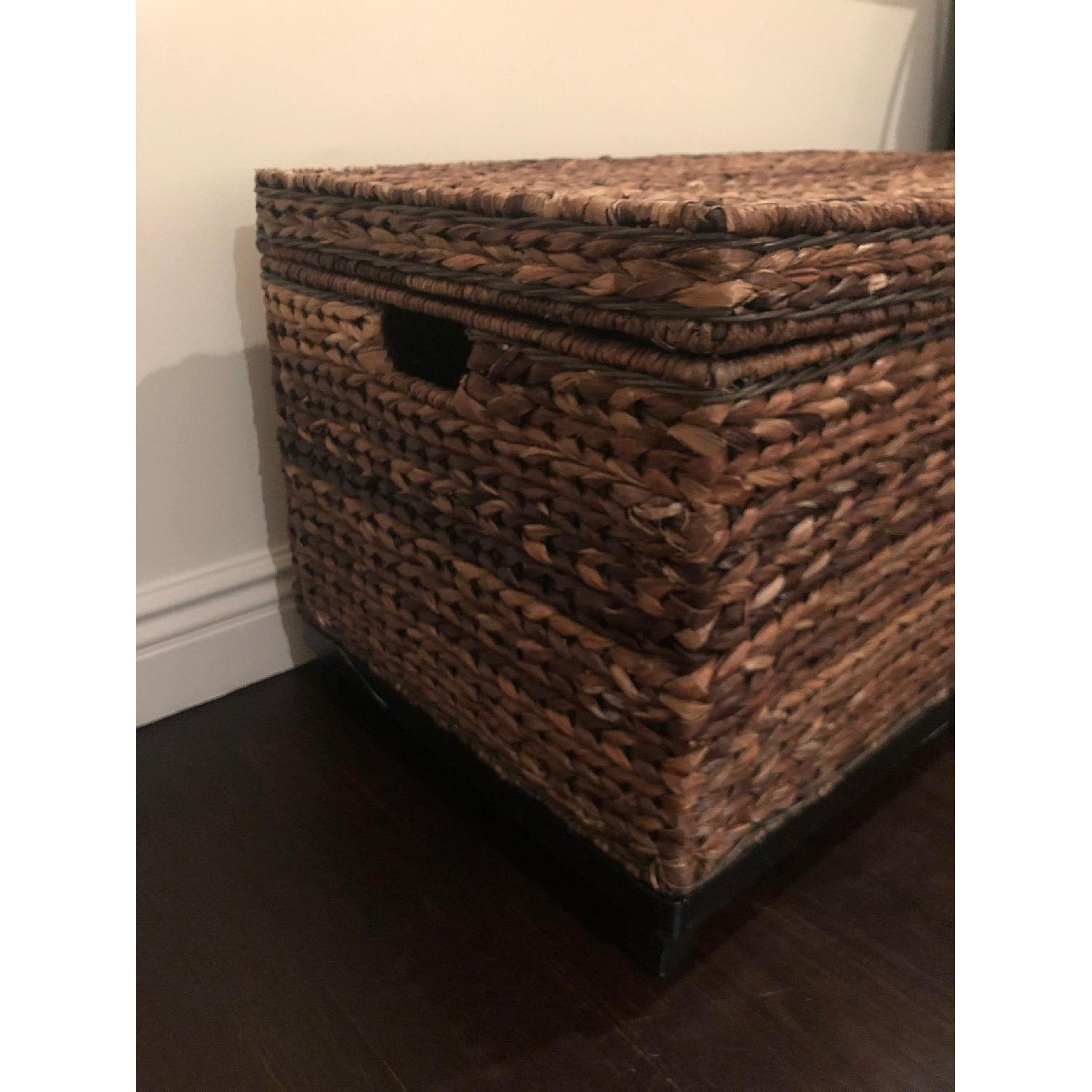 Target Rectangle Wicker Storage Ottoman Bench - image-3