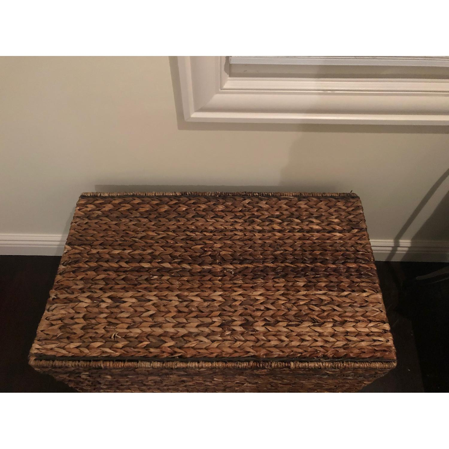 Target Rectangle Wicker Storage Ottoman Bench - image-5
