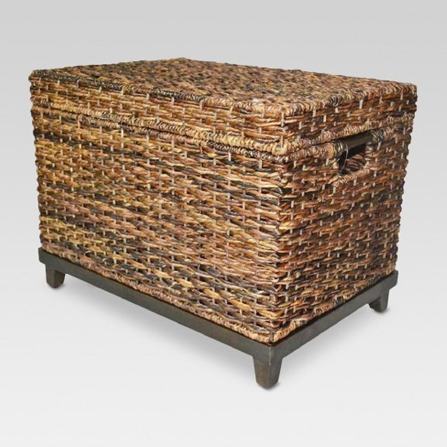 Target Rectangle Wicker Storage Ottoman Bench - image-6