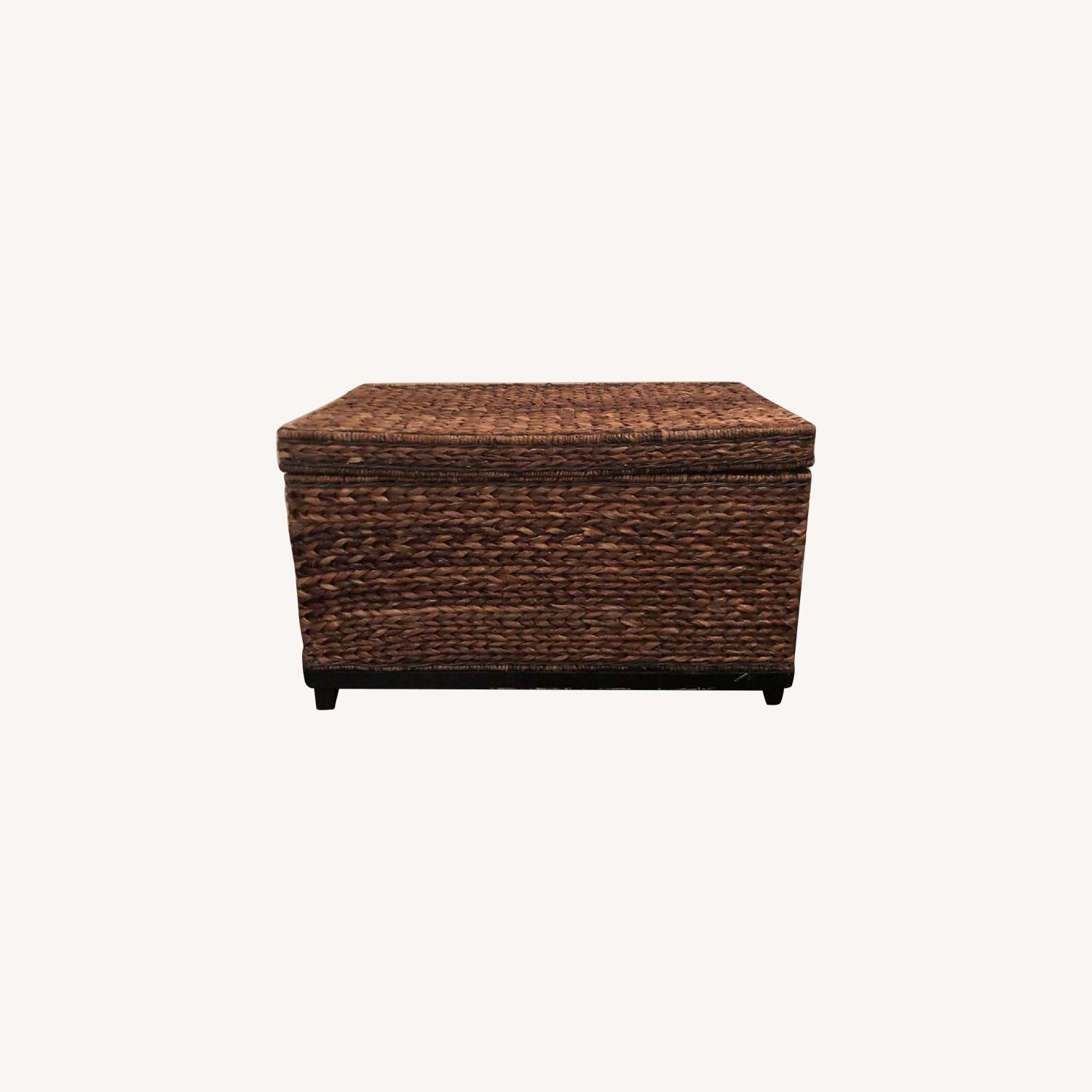 Target Rectangle Wicker Storage Ottoman Bench - image-0