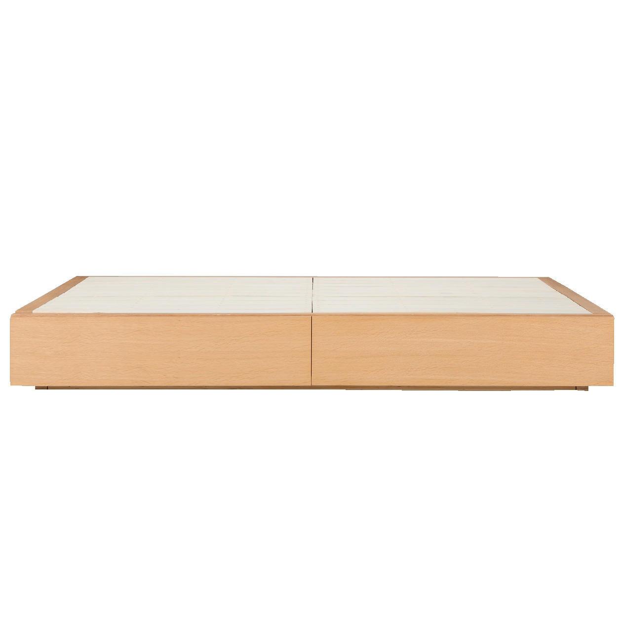 Muji Oak Double Storage Bed