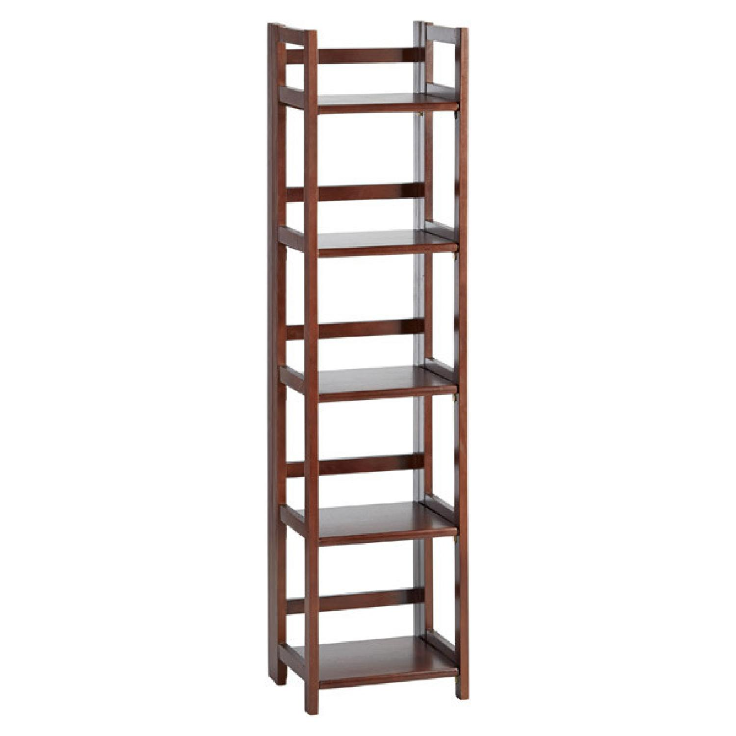 Container Store Solid Wood Folding Shelf