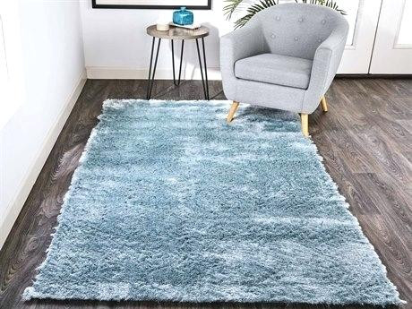 Z Gallerie Glam Shag Water Blue Area Rug