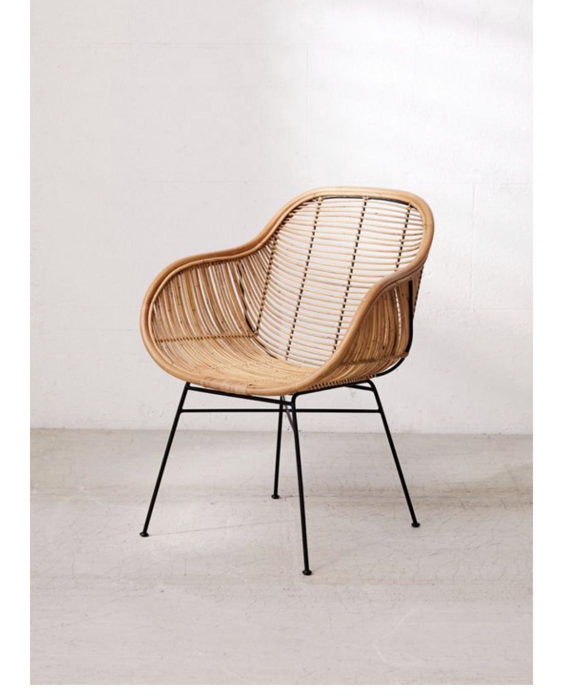 Urban Outfitters Lillian Rattan Chair
