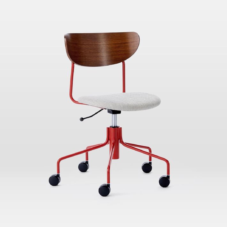 West Elm Petal Office Chair in Vermilion