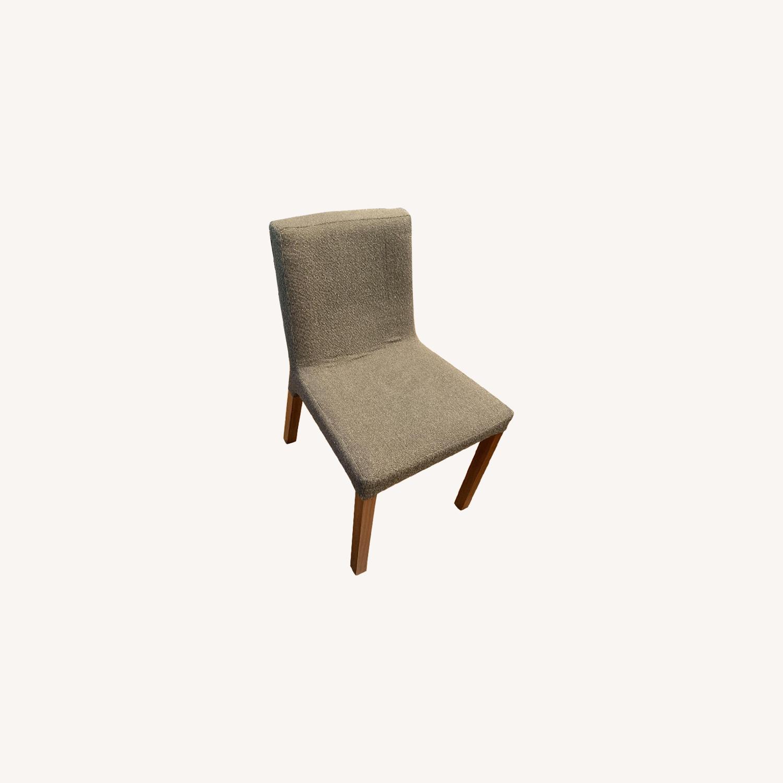 Blu Dot Fabric/Wood Dining Chairs