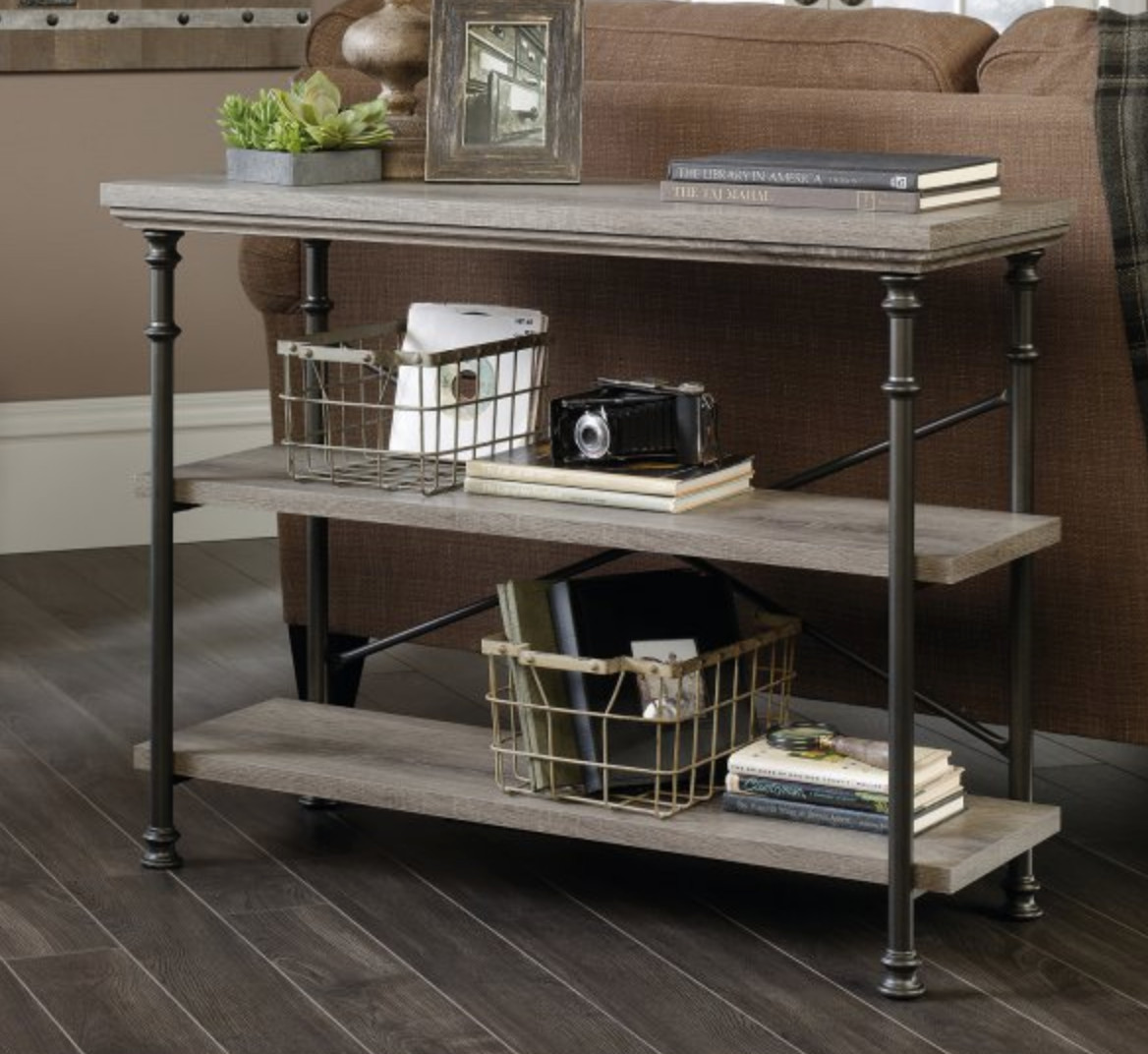 Sauder Canal Street Northern Oak Console Table
