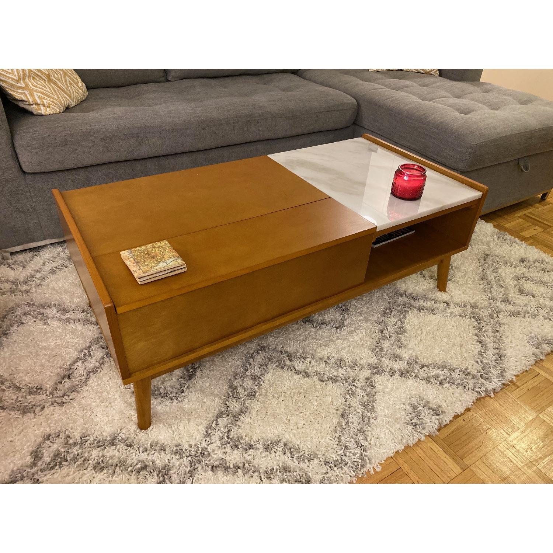 Crosley Pop up Storage Coffee Table w/ Marble Leaf