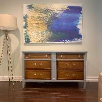 Two Tone Traditional 6 Drawer Dresser -
