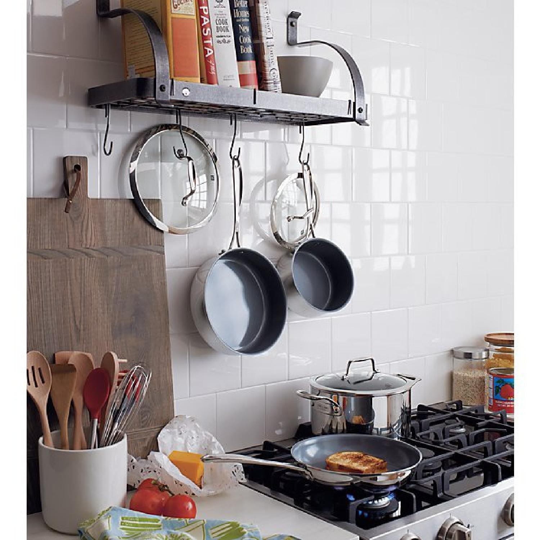 Crate & Barrel Enclume Bookshelf Pot Rack - image-4