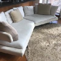 B&B Italia Arne White Curved Sofa