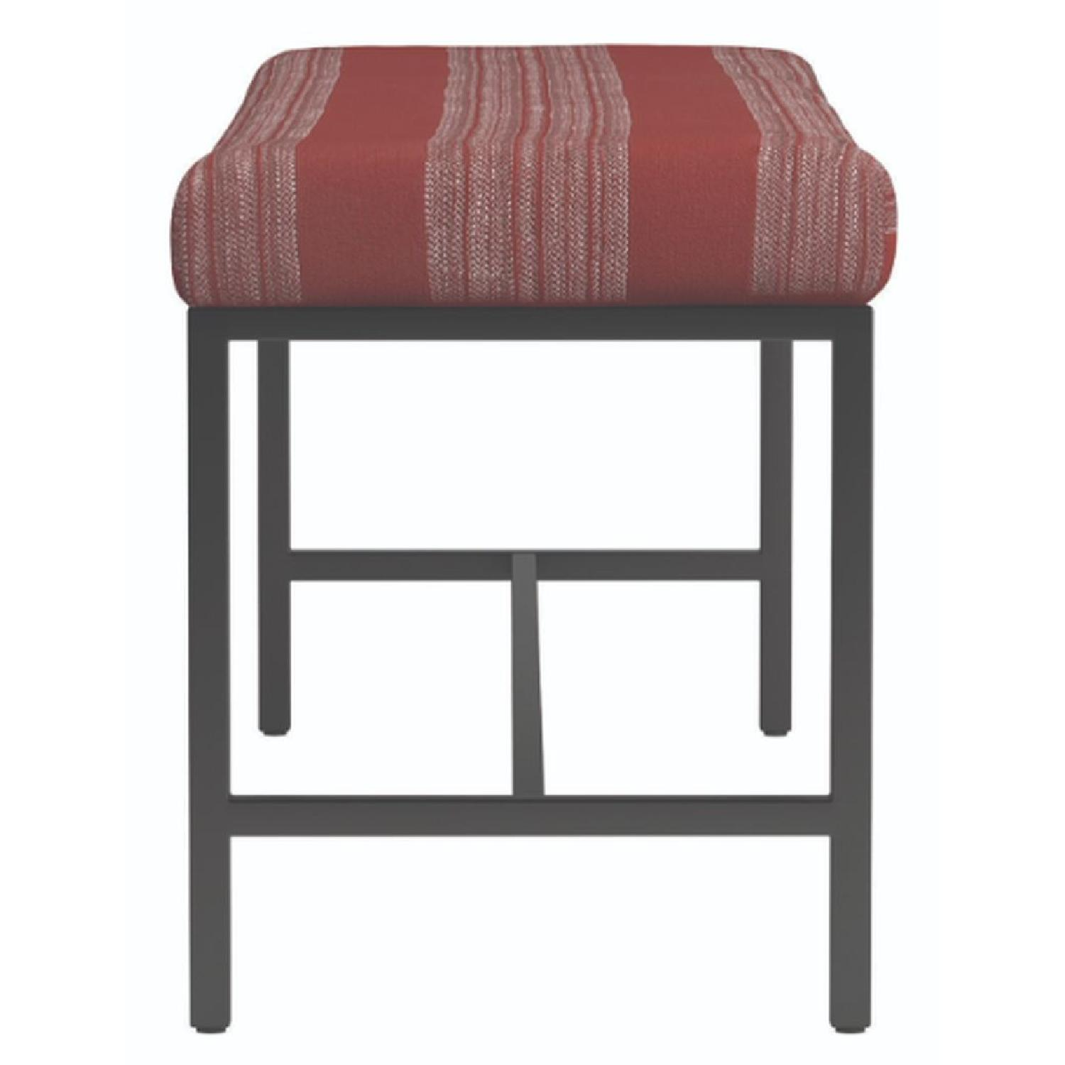 Bench in Electric Style Stripe Cushion w/ Metal Base - image-3