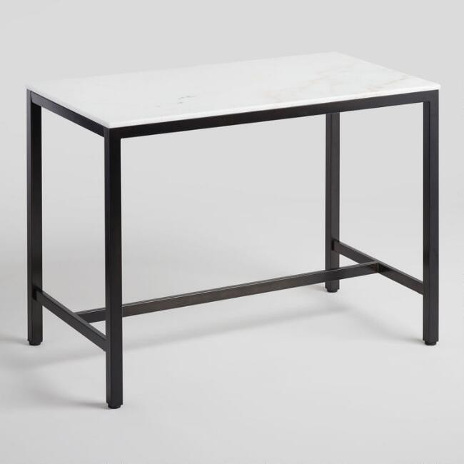 World Market Marble Top Counter Height Table