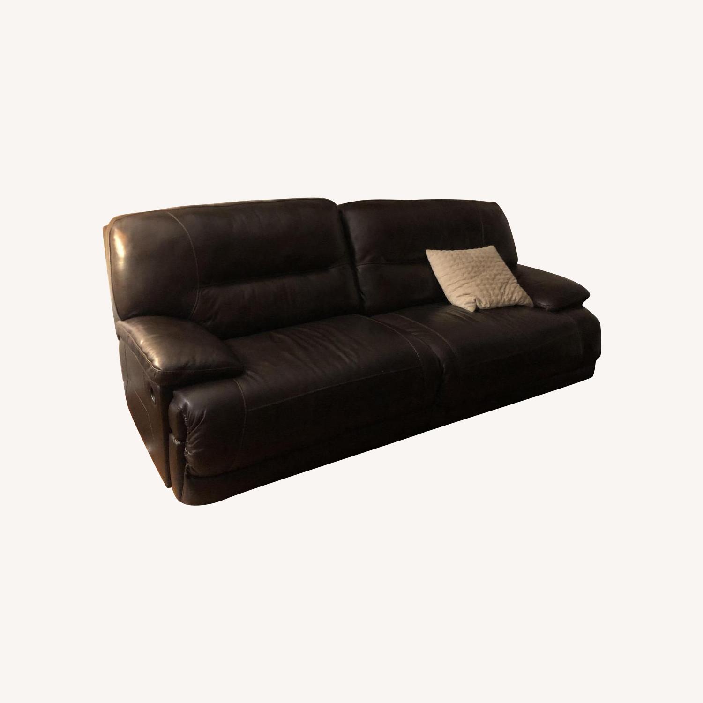 Ashley Furniture Dark Brown Leather Recliner Sofa Aptdeco