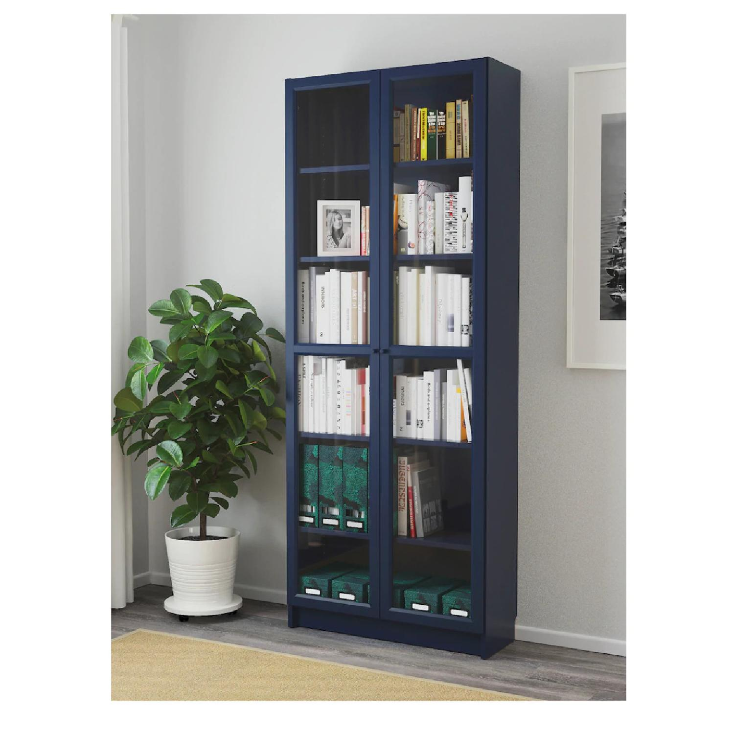 Ikea Billy Bookcase With Glass Doors Aptdeco