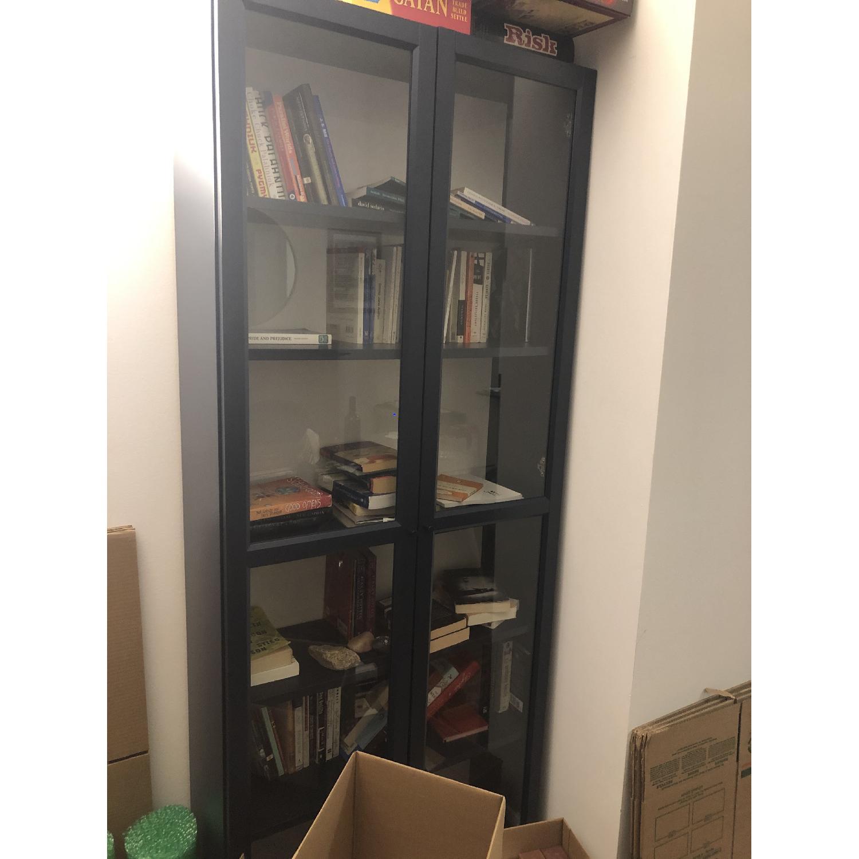 Ikea Billy Bookcase With Glass Doors Aptdeco