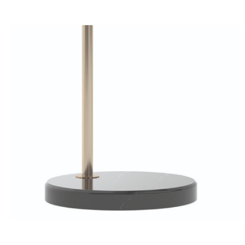 Modern Arch Lamp w/ Black Base & Clear Shade