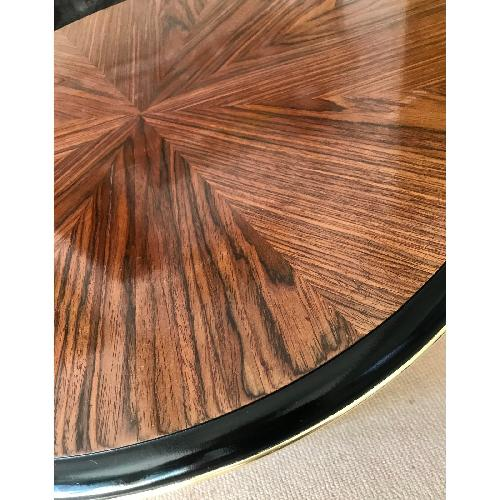 Used Vintage Rosewood Pedestal Marquetry Coffee Table for sale on AptDeco