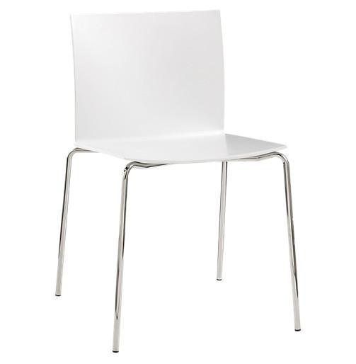 CB2 Slim White Modern Chairs