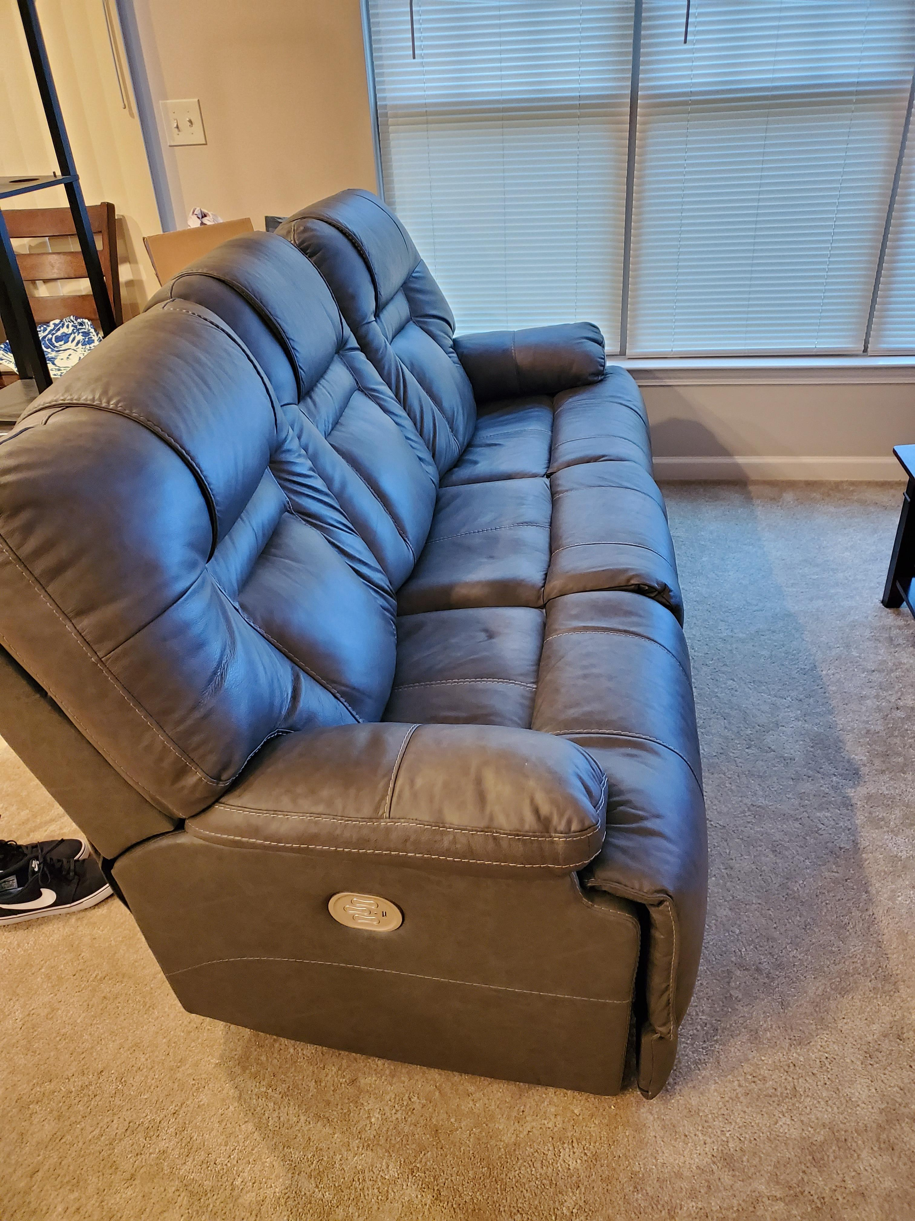 Ashley Wurstrow Leather Reclining Sofa