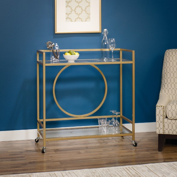 Sauder Gold Bar Cart