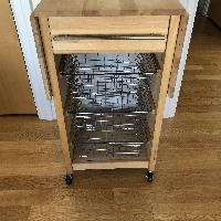 Crate & Barrel Kitchen Butcher's Block Cart/Trolley