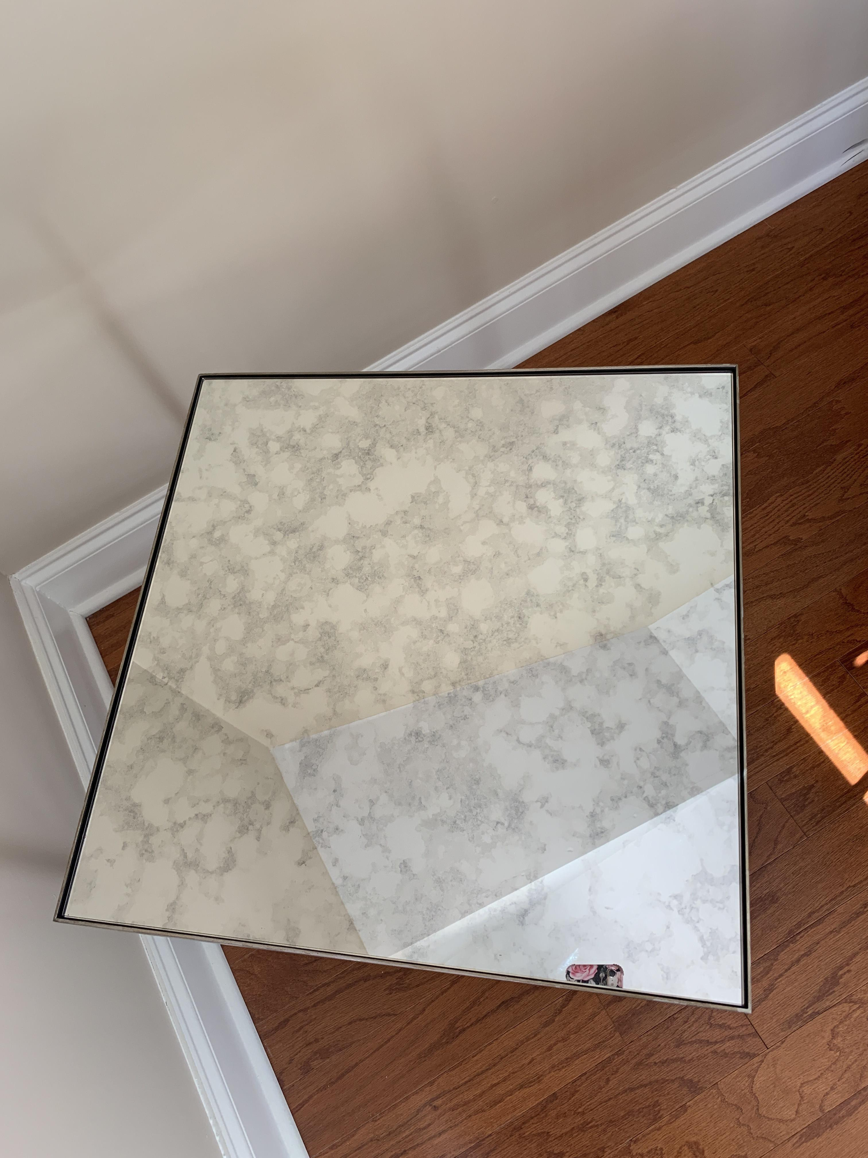 Ethan Allen Antique Mirrored Coffee Table