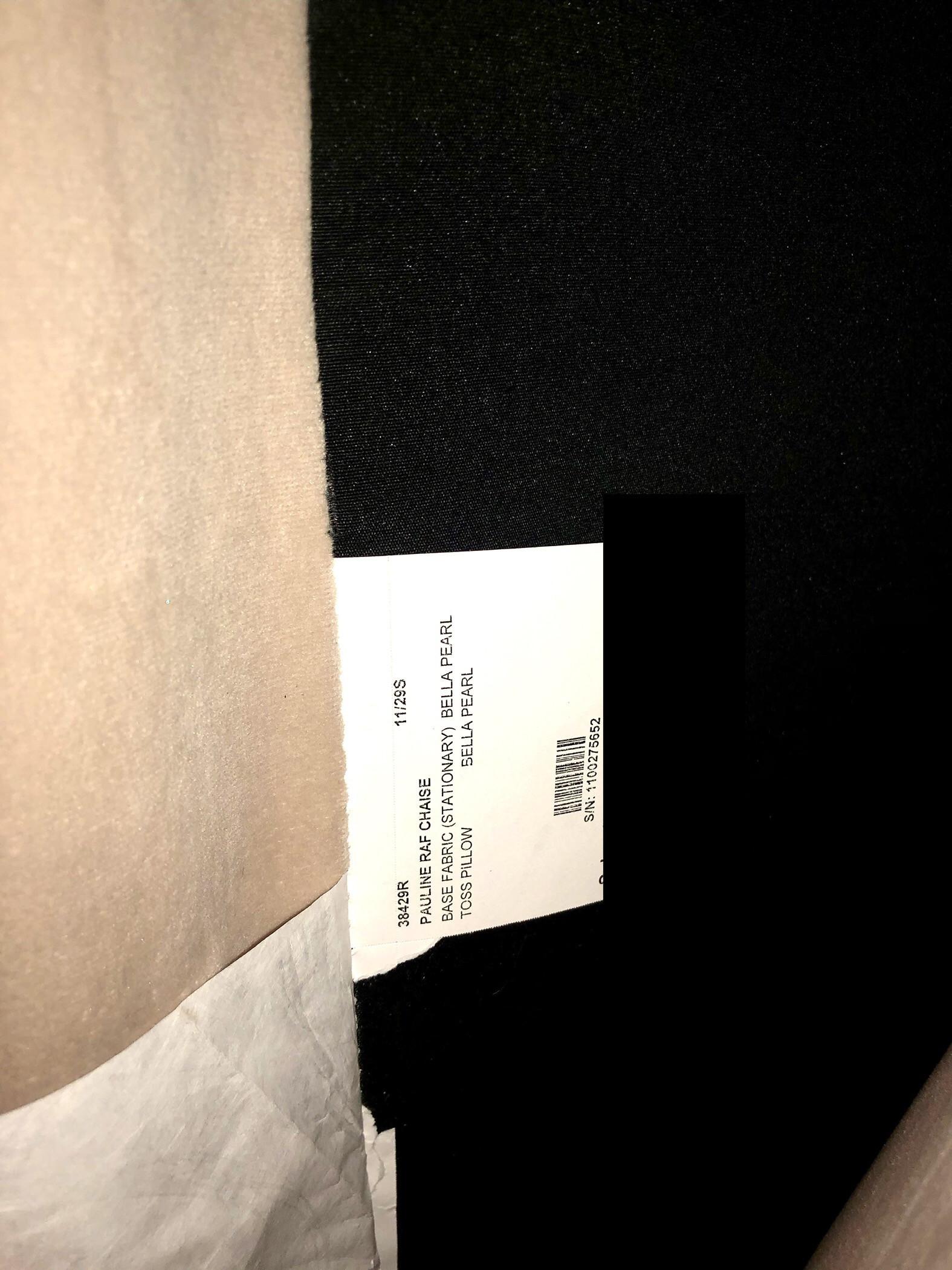 Z-Gallerie Super Durable, Neutral Microsuede Sofa