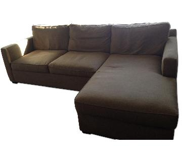Crate & Barrel Davis Sectional Sofa