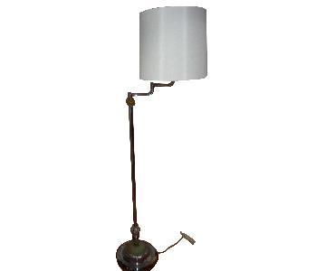 Sculptural Art Deco Swing Arm Floor Lamp