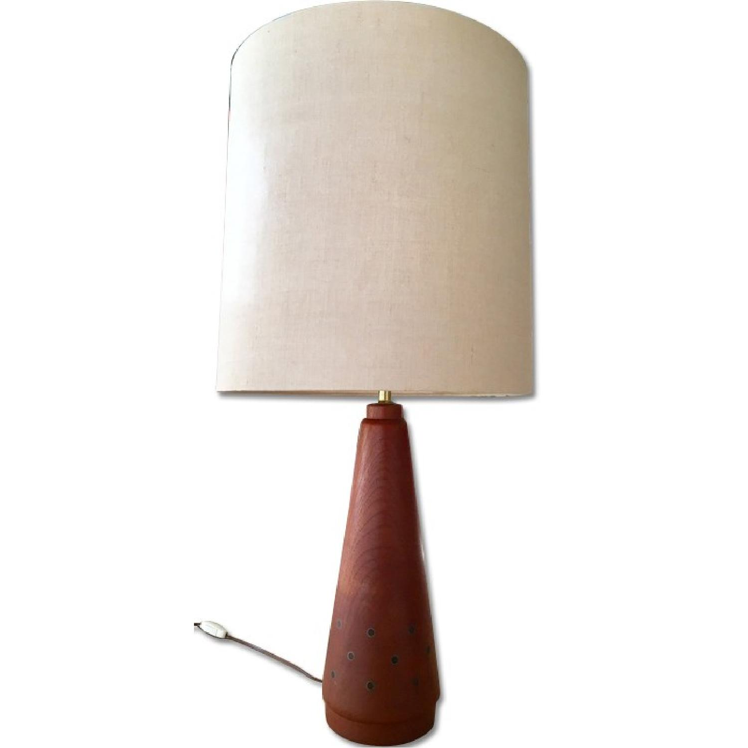 Mid Century Modern Teak Table Lamp