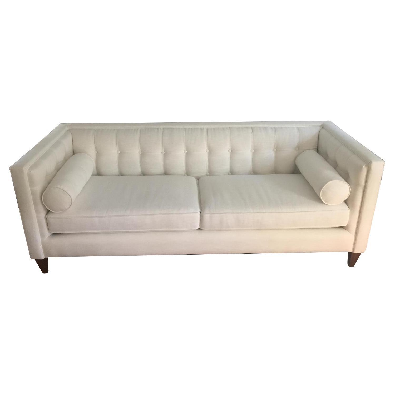 Jennifer Taylor White Tuxedo Sofa Aptdeco
