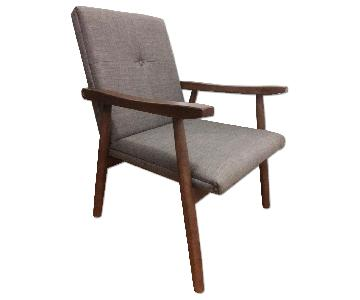 Solid Wood Mid Century Danish Modern Lounge Chair