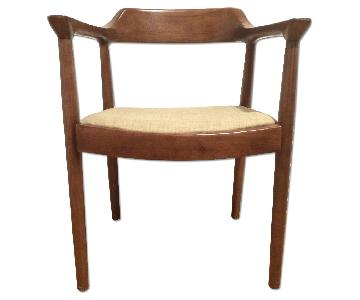 Mid Century Danish Modern Solid Wood Dining Chairs