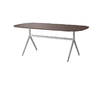 Ikea Long Dark Brown Dining Table