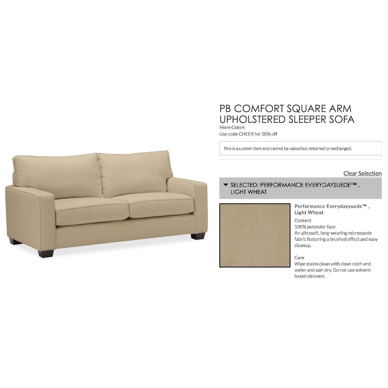 Pottery Barn Comfort Square Arm Upholstered Sleeper Sofa - image-5