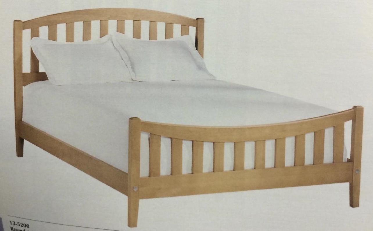 Ethan Allen Queen Size Oak Slat Bed
