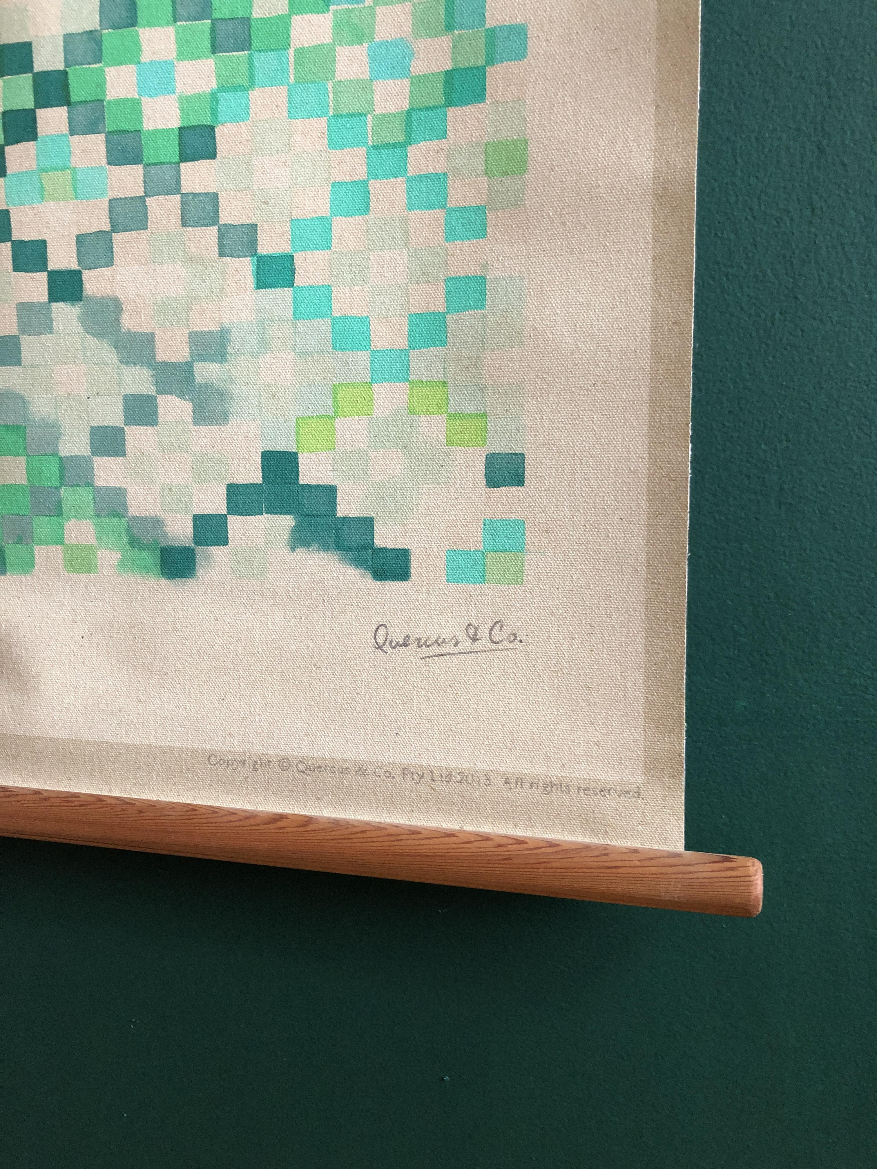 Quercus & Co Hand-Painted Canvas Wall Hanging Tapestry