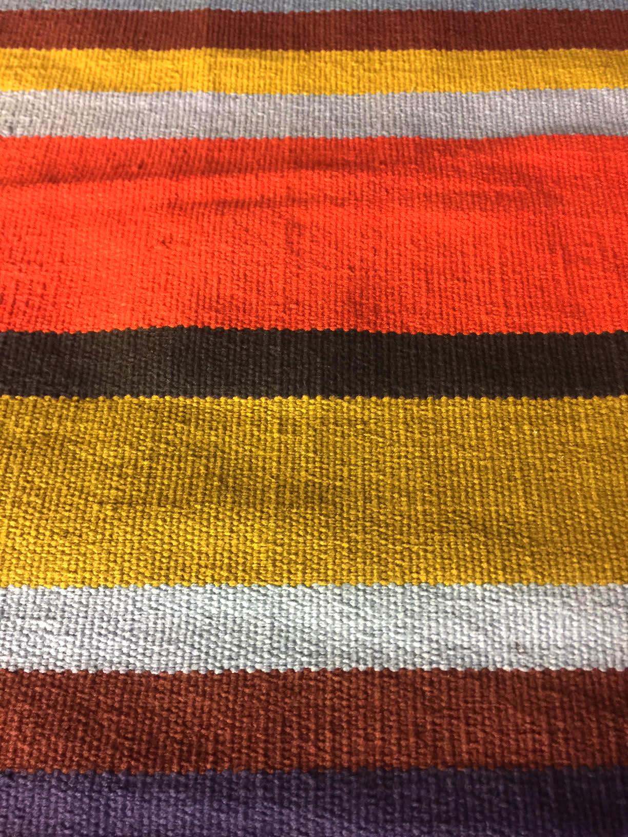 Crate & Barrel Tucker Stripe Cotton Rug