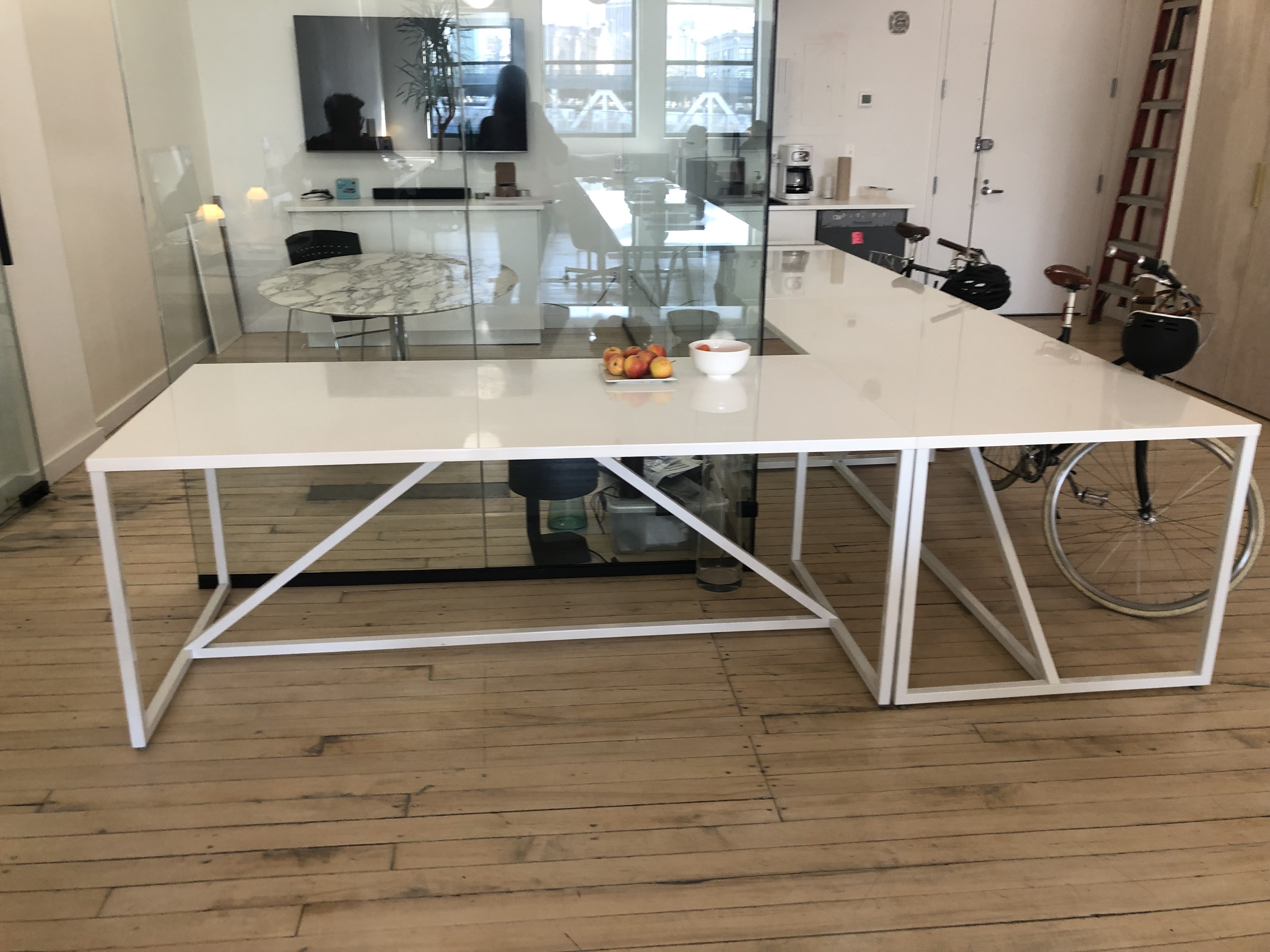 Blu Dot White Large Strut Table/Desk