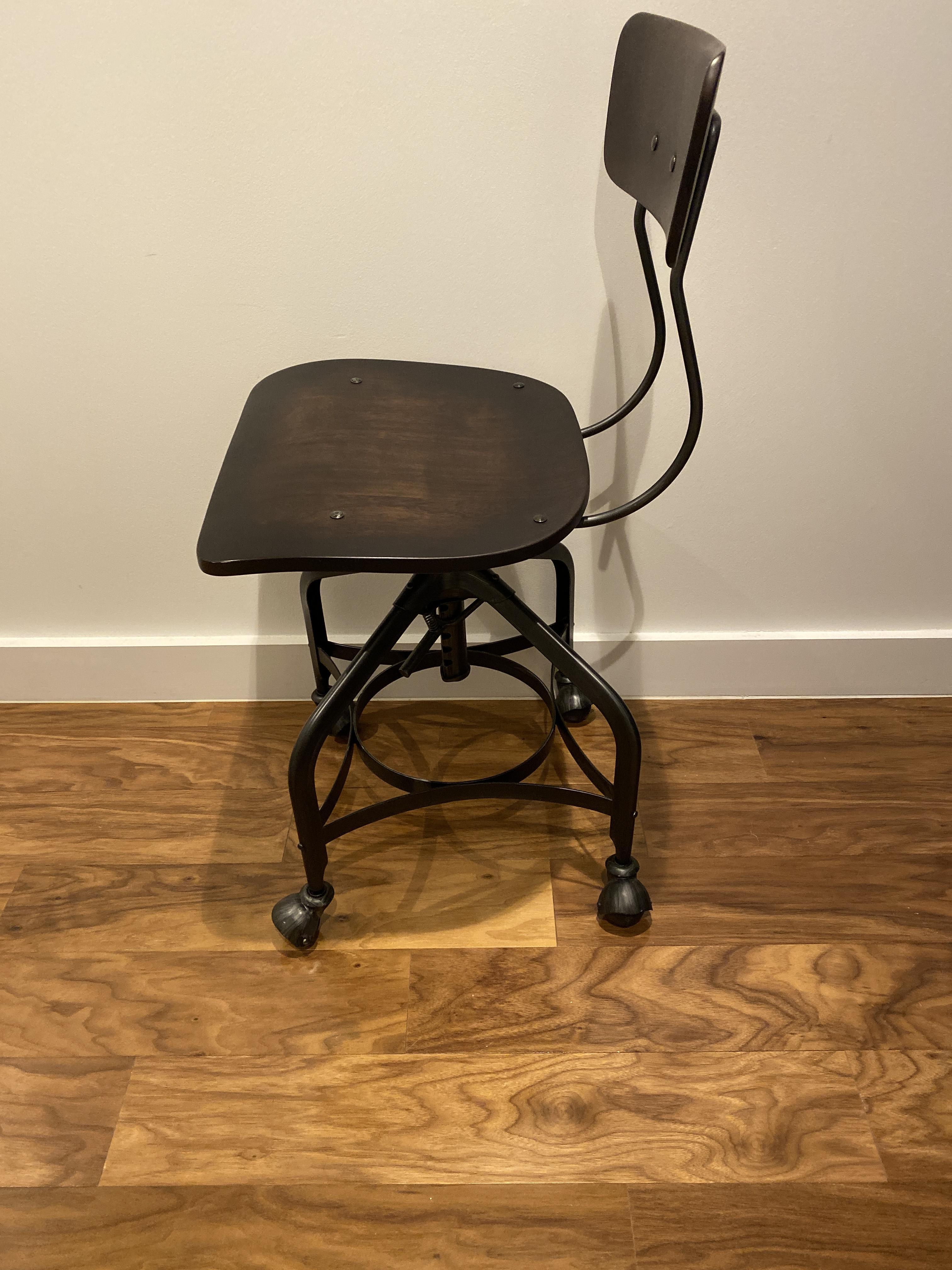 Restoration Hardware Vintage Toledo Desk Chair w/ Casters