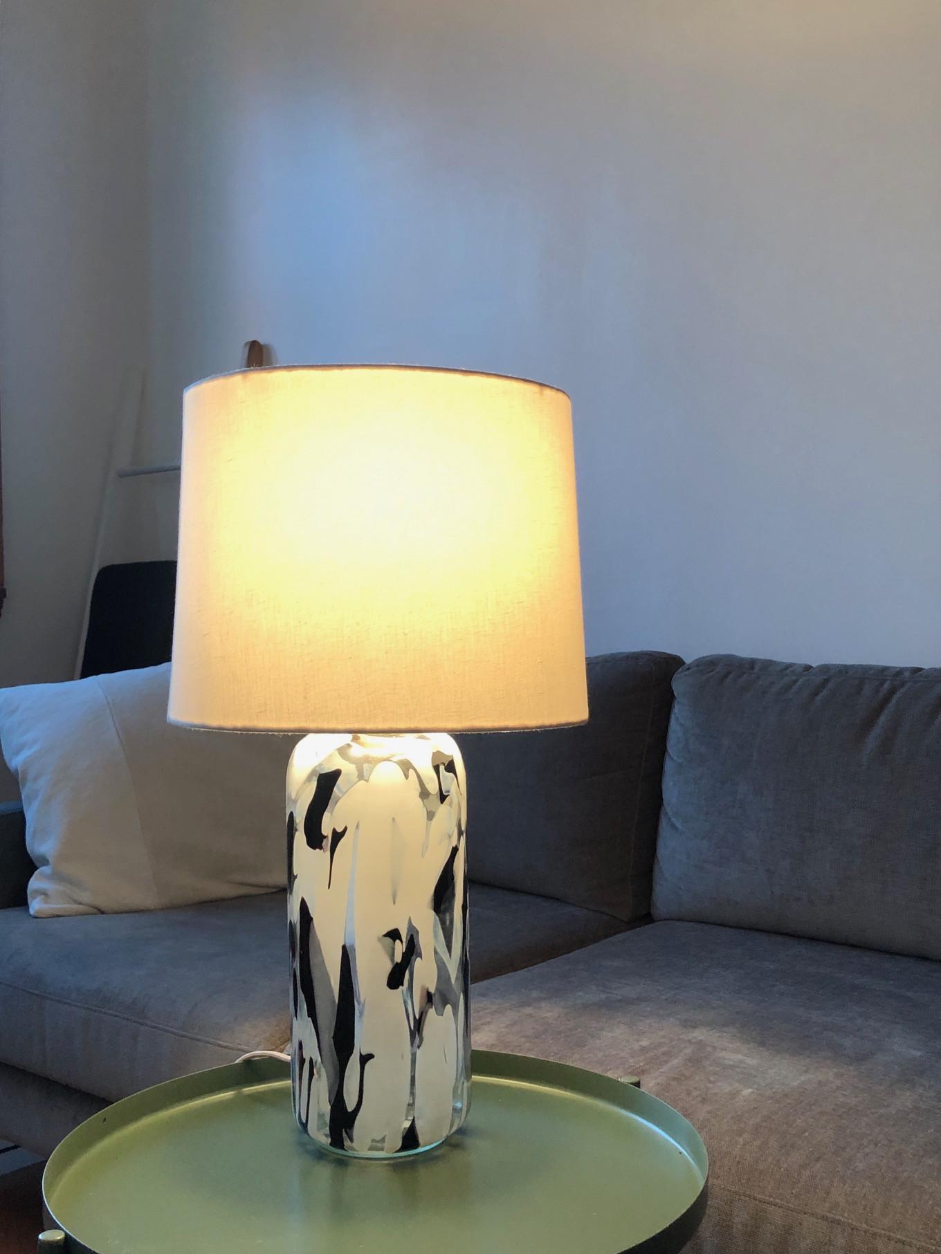 Anthropologie Lola Glass Table Lamp