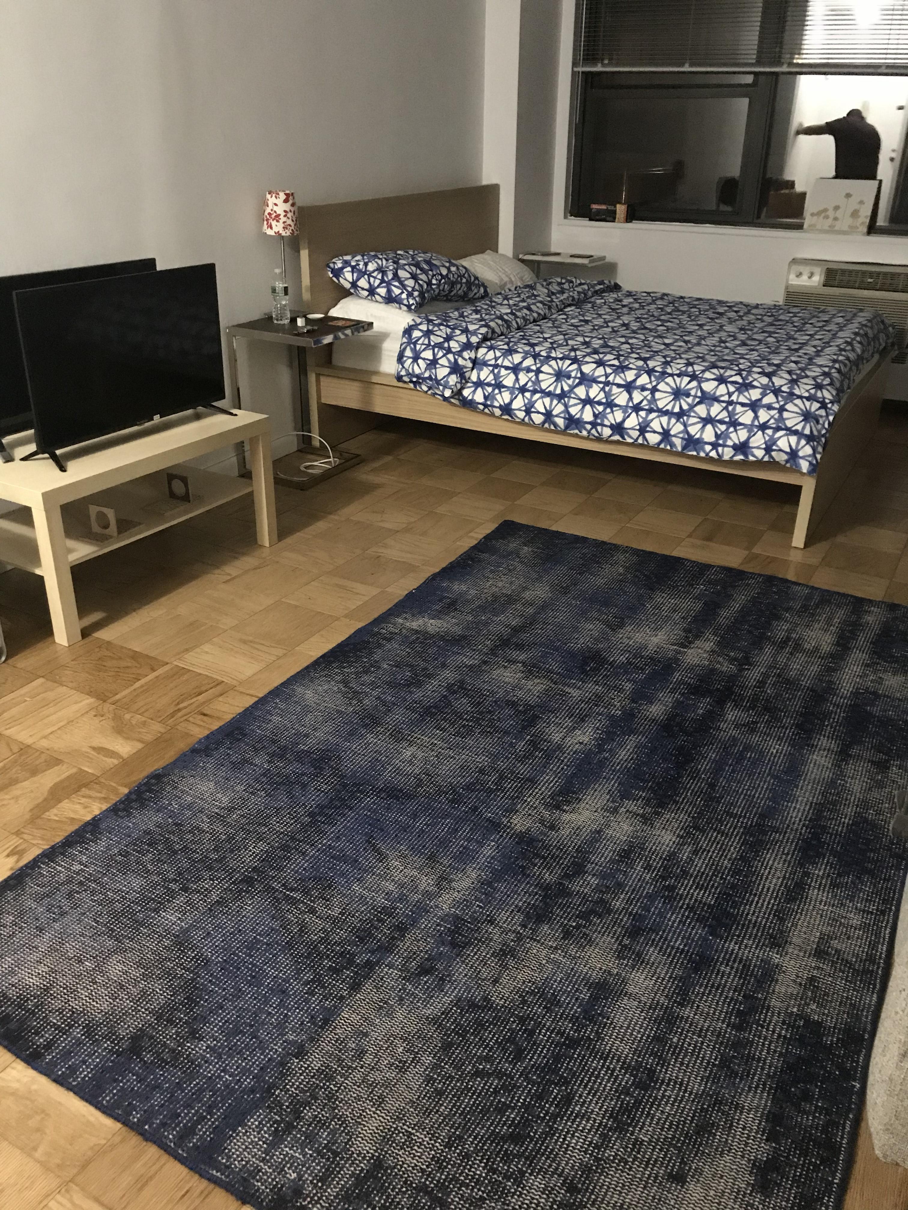 CB2 Blue Modern Area Rug
