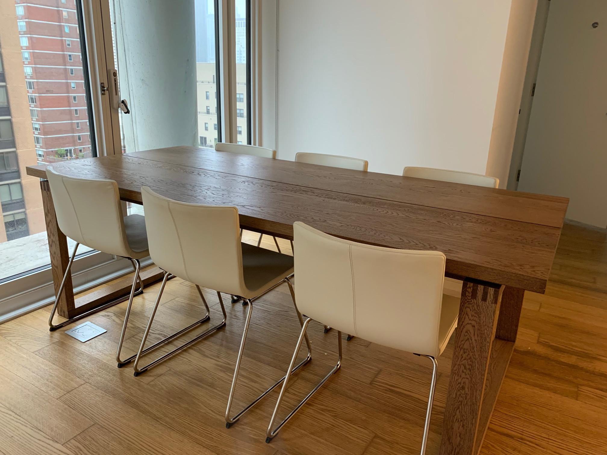 Ikea Morbylanga Dining Table w/ 6 Bernhard Chairs