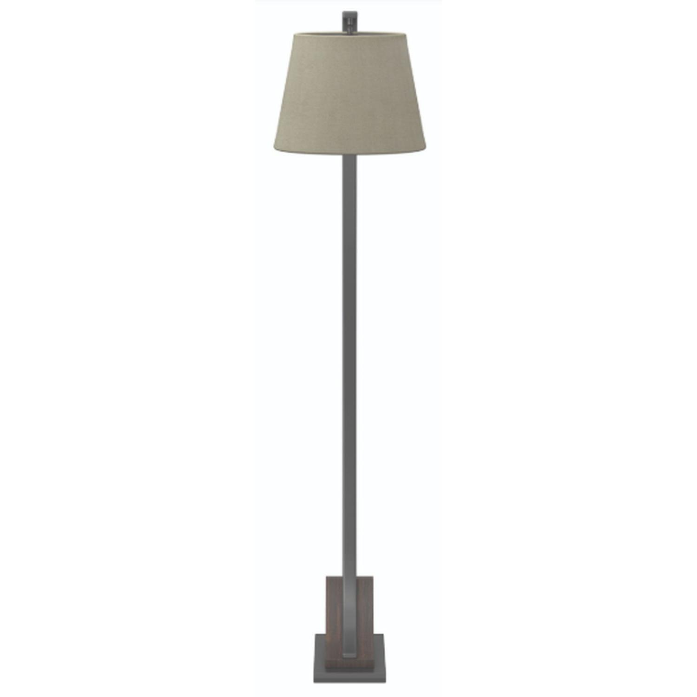 Modern Floor Lamp w/ Hanging Shade - image-2
