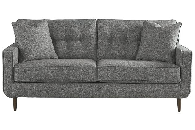 Ashley Zardoni Mid-Century Modern Grey Sofa