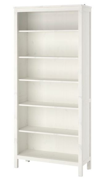 Ikea Hemnes White Wood Bookcase