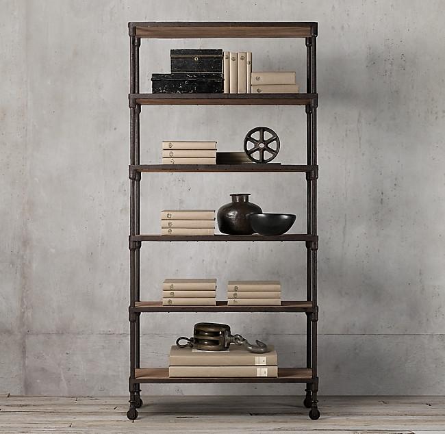 Restoration Hardware Reclaimed Wood Bookshelf
