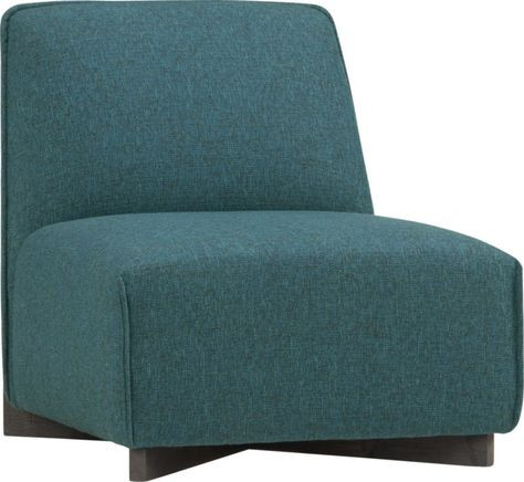 CB2 Banquina Lounge Chair in Green/Blue